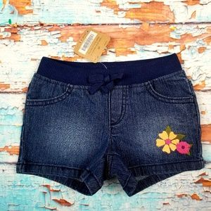 Crazy 8 Bottoms - crazy 8 denim embroidered flower shorts sz 2T NWT